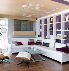 contemporary family room by SVOYA studio