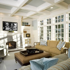 Traditional Family Room by Ed Saloga Design Build