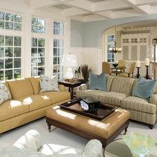 Beach Style Family Room by Ed Saloga Design Build