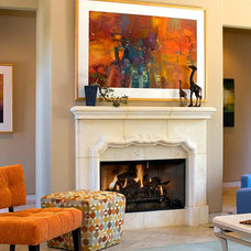 Contemporary Family Room by Amber Moses - Decorating Den Interiors