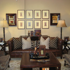 Eclectic Family Room by Heideh Fardi / Simitree