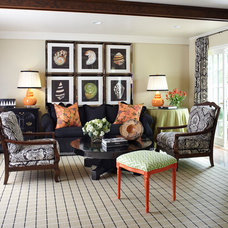 Traditional Family Room by Tobi Fairley Interior Design
