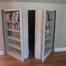 Knee Wall Bookshelves With Storage Behind
