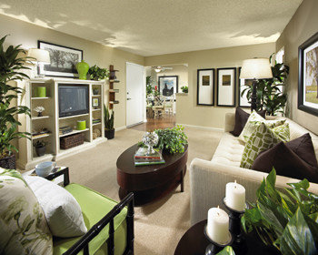 Green and brown houzz for Brown green and cream living room ideas
