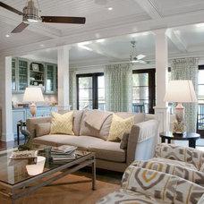 Traditional Family Room by MW Hunter Custom Design LLC