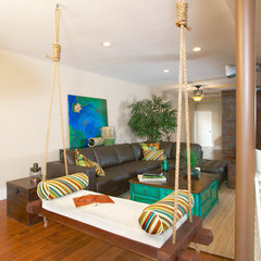eclectic family room by Kerrie L. Kelly