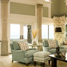 Tropical Family Room by Haute Design