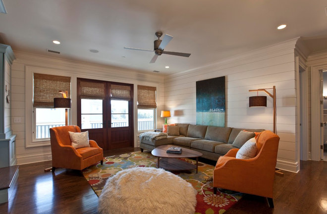 Contemporary Family Room by Phillip W Smith General Contractor, Inc.