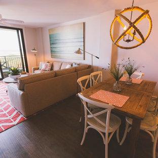 Family room - beach style family room idea in Charleston