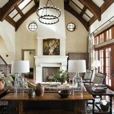 Traditional Family Room by DeSantana Stone Company