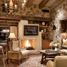 Mediterranean Family Room Italian Retreat