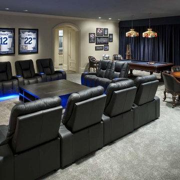 Italian-style Villa: Home Theater