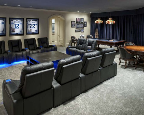 Dallas Cowboys Home Theater Design Ideas, Remodels & Photos | Houzz