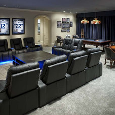 Contemporary Home Theater by Wesley-Wayne Interiors, LLC
