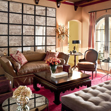 Traditional Family Room by Christopher Gaona Design Studio
