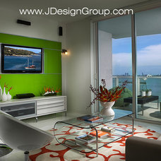 modern family room by J Design Group - Interior Designers Miami - Modern
