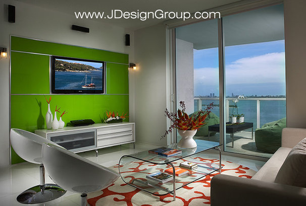 Contemporary Family Room by J Design Group - Interior Designers Miami - Modern