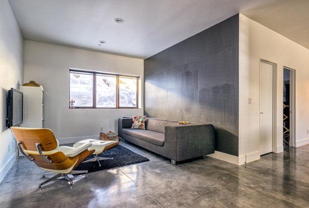 Contemporary Family Room by Park City Design Build