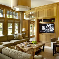eclectic media room by jamesthomas, LLC