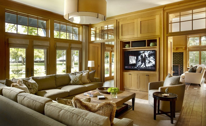 Eclectic Family Room by jamesthomas, LLC