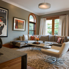 Contemporary Family Room by jamesthomas, LLC