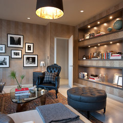 modern media room by jamesthomas, LLC