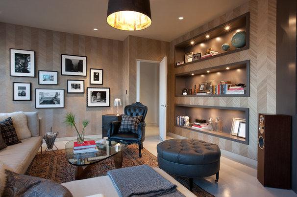 Modern Family Room by jamesthomas, LLC