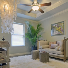 Tropical Family Room by Jane Haley LLC