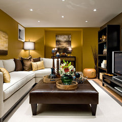 modern family room by Jane Lockhart Interior Design