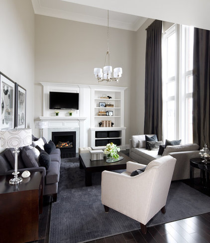 contemporary family room by Jane Lockhart Interior Design