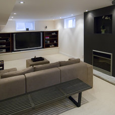 Asian Family Room by BiglarKinyan Design Planning Inc.