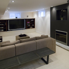 asian family room by BiglarKinyan Design Partnership Inc.