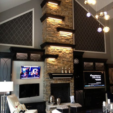 Contemporary Family Room by SpartaCraft Custom Cabinets