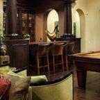 Spanish Oaks Hacienda Mediterranean Family Room
