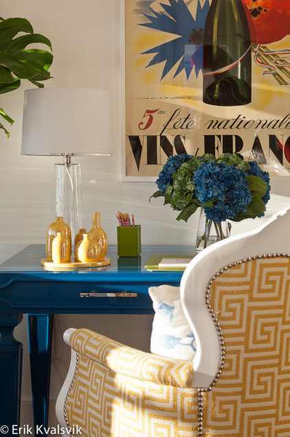 Eclectic Family Room by JBM DESIGNS LLC