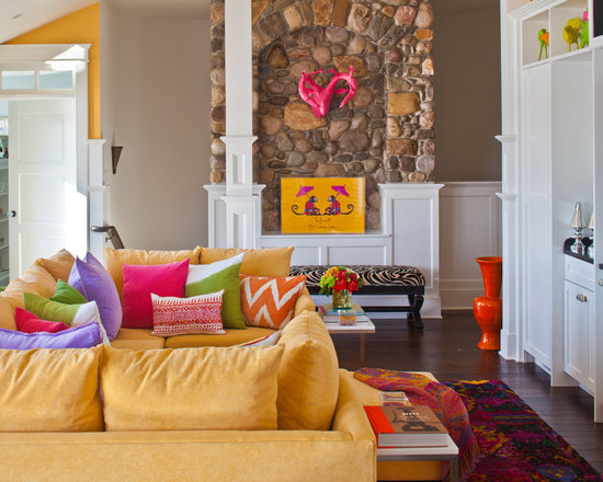 Living Room Yellow Sofa yellow couch | houzz