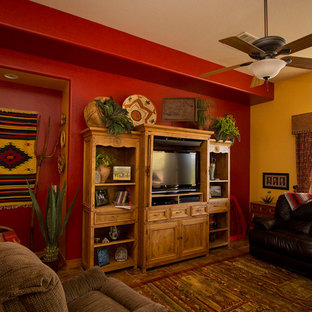 Inspiration for a southwestern family room remodel in Phoenix