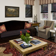Eclectic Family Room by Jenna Wedemeyer Design, INC.