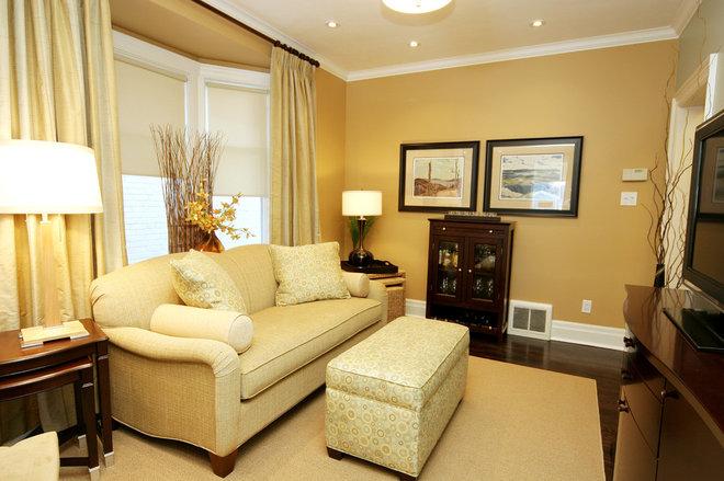 Contemporary Family Room by Jennifer Brouwer (Jennifer Brouwer Design Inc)