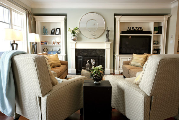 Traditional Family Room by Jennifer Brouwer (Jennifer Brouwer Design Inc)