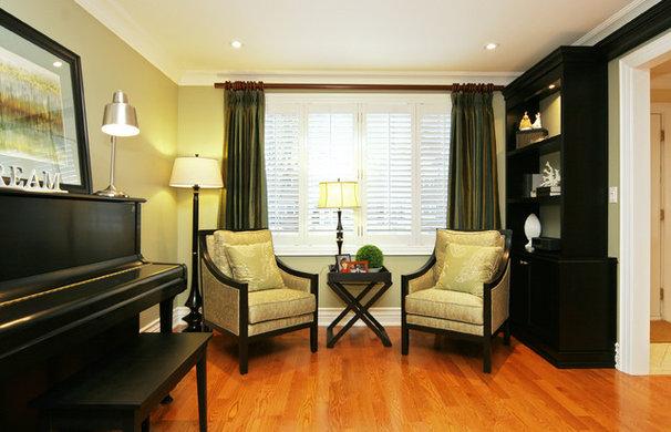 Traditional Family Room by Jennifer Brouwer (Jennifer Brouwer Design Inc)