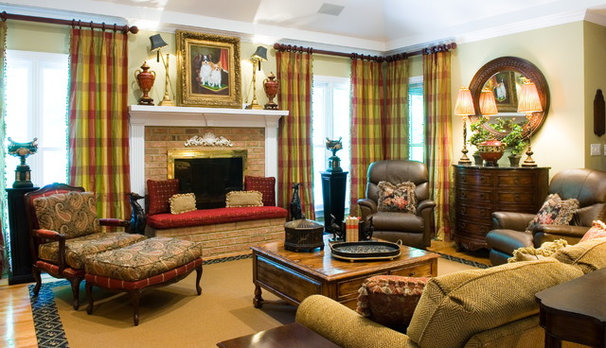 Traditional Family Room by Jennifer Neal Design Studio