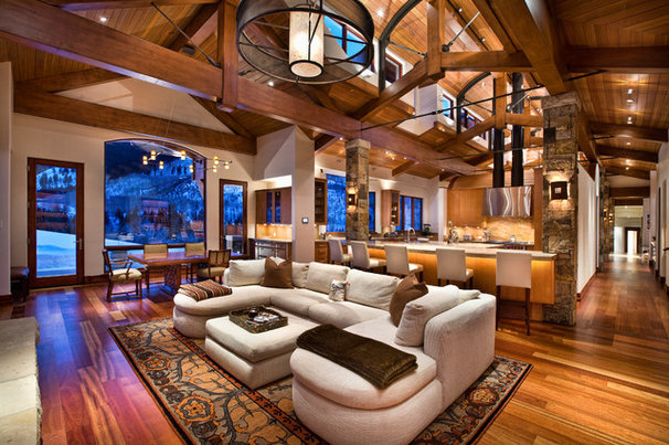 Traditional Family Room by Charles Cunniffe Architects Aspen