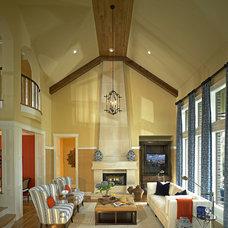 Contemporary Family Room by John Lively & Associates