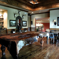 Eclectic Family Room by John Lively & Associates