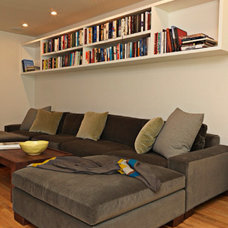 Modern Family Room by Joan Robey Design