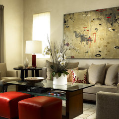contemporary family room by LKID