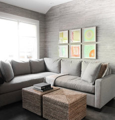 modern family room by Croma Design Inc