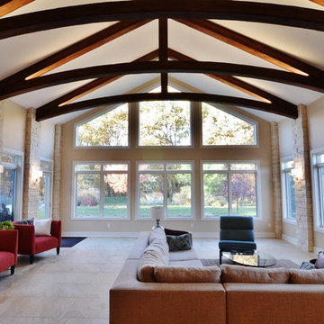 Johnston Home Addition with Exposed Beams - 2012