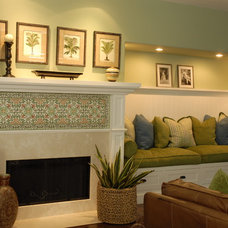 Traditional Family Room by Joni Koenig Interiors